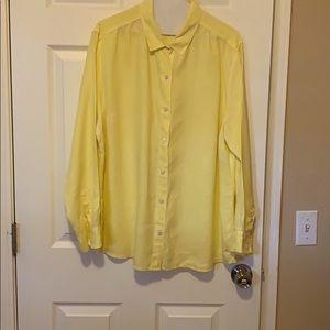 Tommy Bahama Yellow Linene Shirt